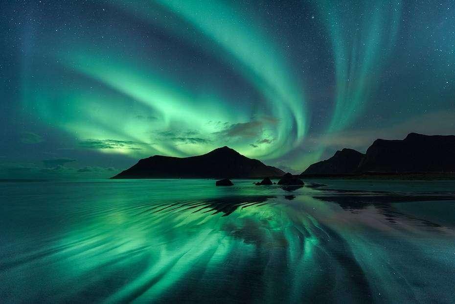 Aurore boreali islanda dettaglio penisola naturaviaggi Viaggio in Islanda tra ghiaccio e fuoco aurore boreali e leggende