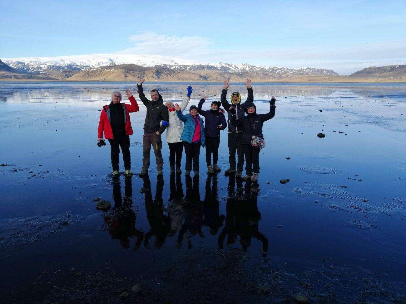 Aurore boreali islanda gruppo felice bassa marea dyrholaey naturaviaggi scaled Viaggio in ISLANDA 12 giorni Tour delle Meraviglie partenza 26 Luglio 2021
