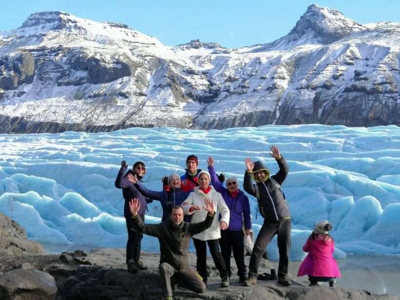 Islanda gruppo in cerca di aurore Boreali