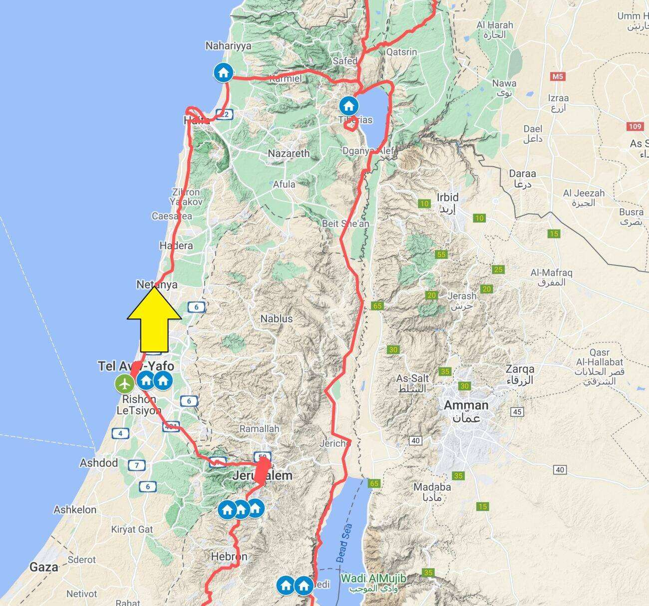 Mappa Israele ottobre 2021 sez centrale scaled Israele