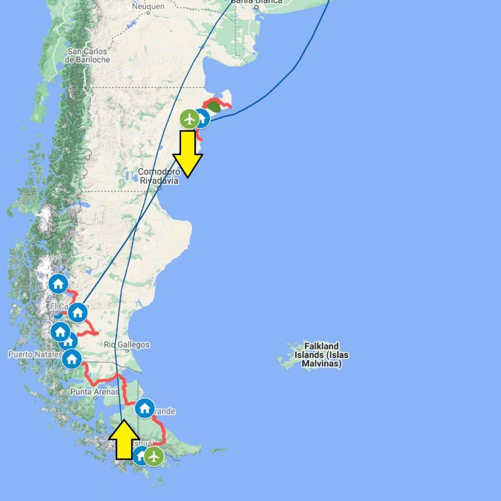 Mappa PATA Grand TOur 2021 sez sud 1024x1024 Patagonia dove la terra incontra il cielo